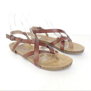 Blowfish Malibu Granola Strappy Sandals Size 7